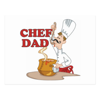 Chef Dad Father Gift Postcard