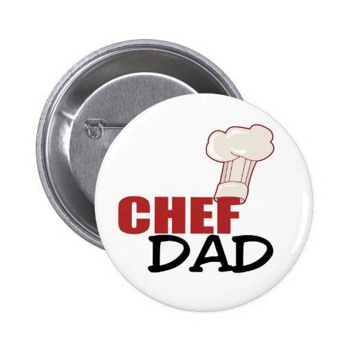 Chef Dad Gift Pinback Button