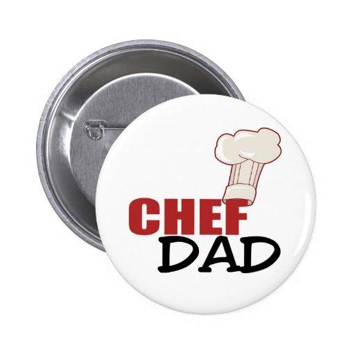 Chef Dad Pinback Button