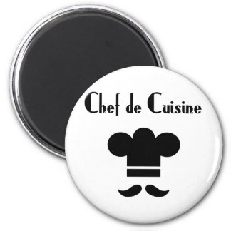 Chef de Cuisine 2 Inch Round Magnet