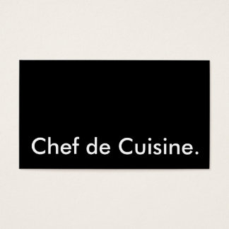 Chef de Cuisine. Business Card
