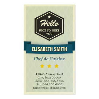 Chef de Cuisine - Creative Retro Stylish Double-Sided Standard Business Cards (Pack Of 100)