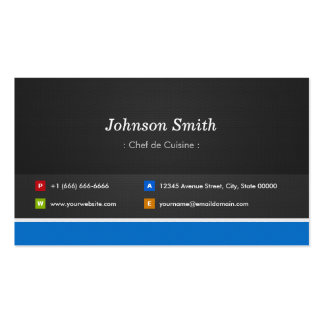 Chef de Cuisine - Professional Customizable Double-Sided Standard Business Cards (Pack Of 100)