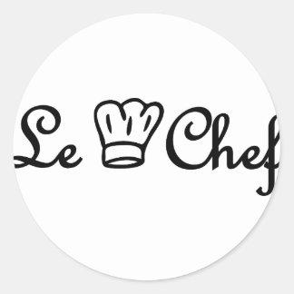 chef de cuisine round sticker