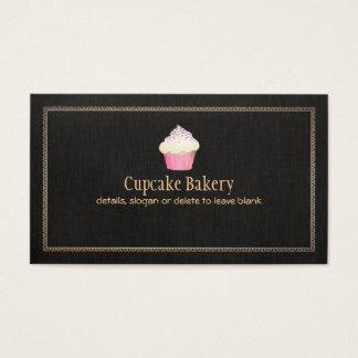 Chef de repostería de la panadería de la magdalena tarjeta de negocios