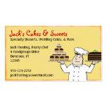 Chef de repostería plantilla de tarjeta de visita