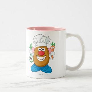 Chef de Sr. Potato Taza De Café De Dos Colores