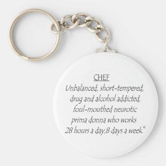 Chef Defined Basic Round Button Keychain