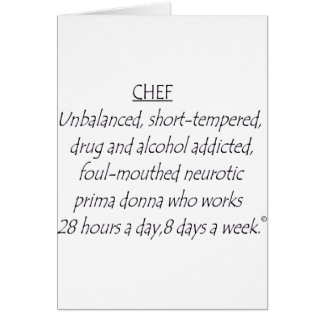 Chef Defined Card