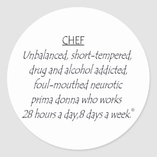 Chef Defined Classic Round Sticker