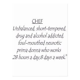 Chef Defined Postcard