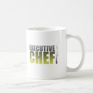 Chef ejecutivo amarillo tazas de café