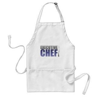 Chef ejecutivo azul delantales