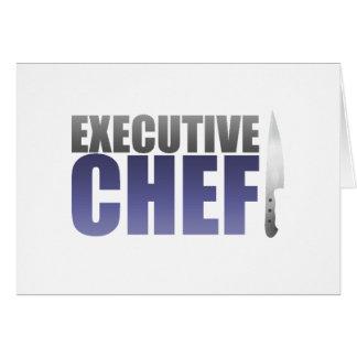 Chef ejecutivo azul tarjeta de felicitación