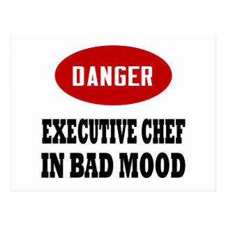 Chef ejecutivo divertido postales