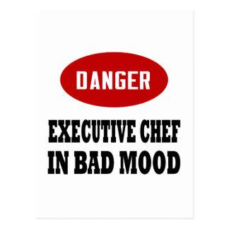 Chef ejecutivo divertido postal