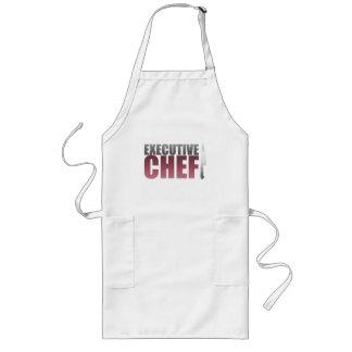 Chef ejecutivo rojo delantal largo