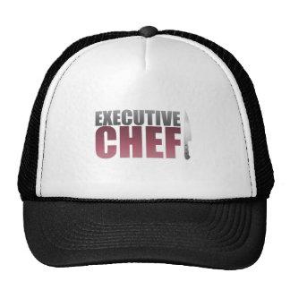 Chef ejecutivo rojo gorros