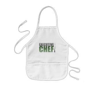 Chef ejecutivo verde delantal