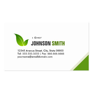 Chef - Elegant Modern Green Business Card Templates