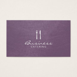 Chef Elegant Purple Catering Business Card