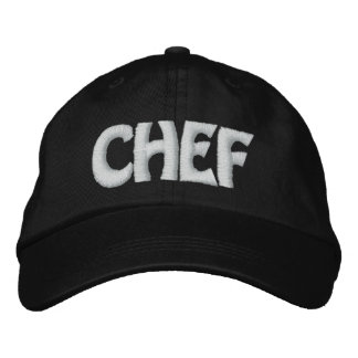 CHEF EMBROIDERED BASEBALL CAP