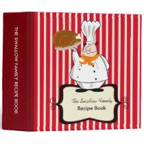 Chef Family Recipe Binder Book 2-inch Custom