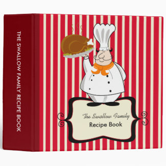 Chef Family Recipe Binder Book 2-inch Custom