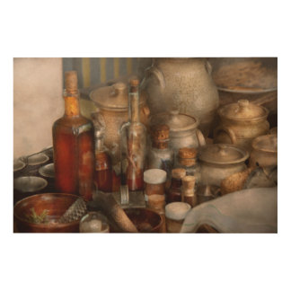Chef - First class ingredients Wood Canvas