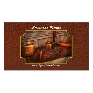 Chef - Food - Equipment for making Latkes Business Card Template