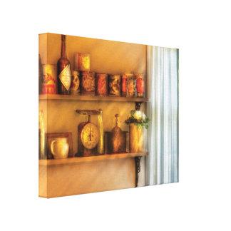 Chef - Food - Kitchen Shelves Canvas Print