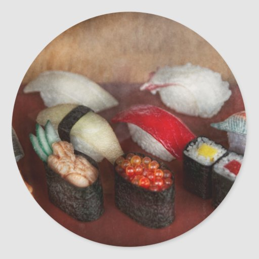 Chef - Food - Oh, I had sushi last night Round Stickers