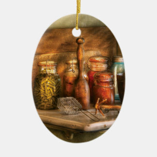 Chef - Food - The process of canning Ceramic Ornament