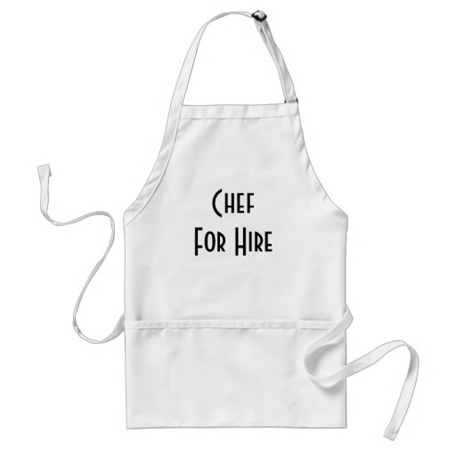 Chef For Hire Adult Apron