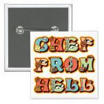 Chef from Hell Pinback Button