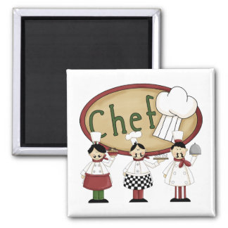 Chef Gift 2 Inch Square Magnet