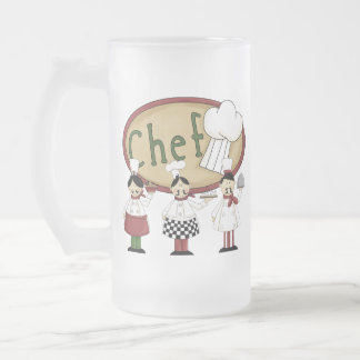 Chef Gift Frosted Glass Beer Mug