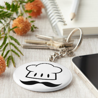 Chef Gift Mustache for Dad Cook Man Fun Moustache Keychain