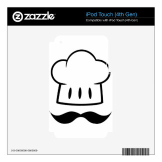 Chef Gift Mustache for Dad Cook Man Fun Moustache Skin For iPod Touch 4G