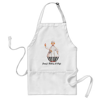 Chef Girl Cupcake Apron - with Blonde Hair