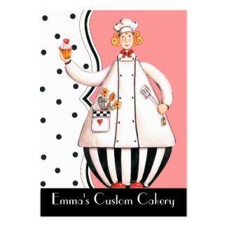 Chef Girl Cupcake Business Card - She's a Brunette