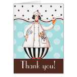 Chef Girl Thank You Card - Brown with Black Hair