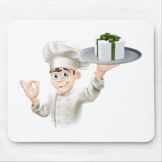 Chef giving gift mousemat