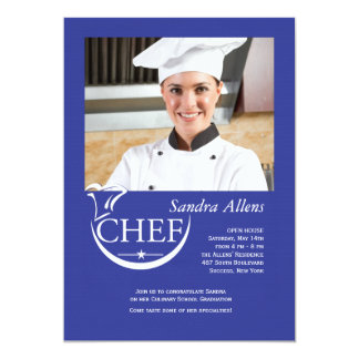 Chef Graduation Photo Invitation