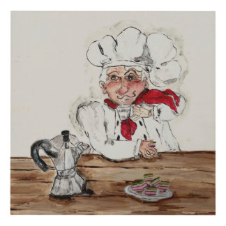 Chef Guiseppe Panel Wall Art