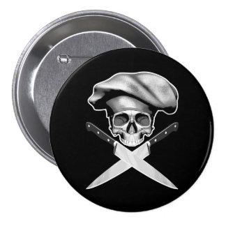 Chef Half Skull Knives Buttons