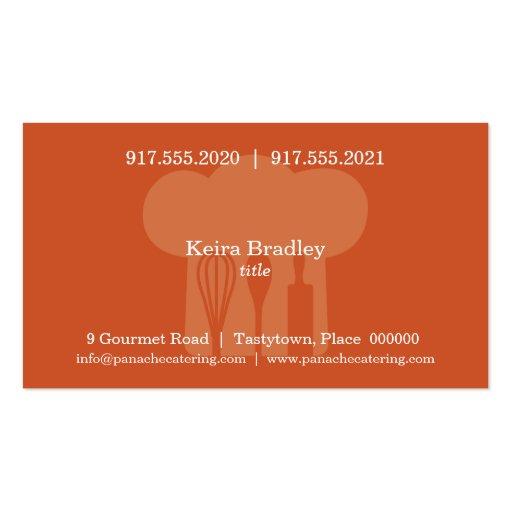 Chef Hat Business Card (back side)