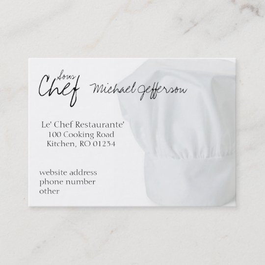 Elegant Chef Logo: Chef Hat Business Cards