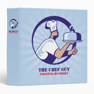 Chef hat dome platter catering food delivery 3 ring binder