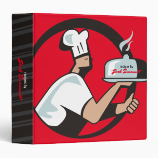 Chef hat dome platter catering food delivery binder